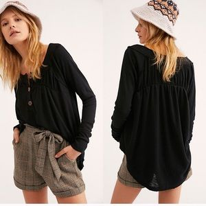 Free People Must Have Have Henley Black Large
